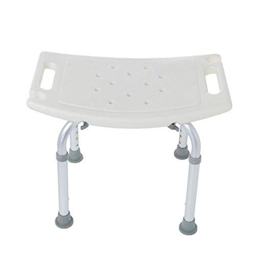 (Yetou Medical Tool-Free Assembly Adjustable Shower Stool Tub Chair and Bathtub Seat Bench with Anti-Slip Rubber Tips)