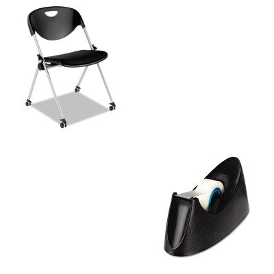 KITAAPSL651UNV15001 - Value Kit - Best SL Series Nesting Stack Chair with Casters (AAPSL651) and Universal Desktop Tape Dispenser (UNV15001) by Best
