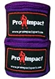 "PRO IMPACT Boxing/MMA Handwraps 180"" Mexican Style Elastic 1 Pair PURPLE"