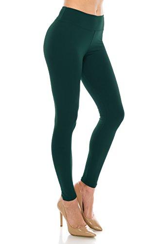 ALWAYS Leggings Women High Waist - Premium Buttery Soft Yoga Workout Stretch Solid Pants Dark Teal Regular]()
