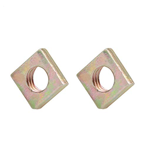 50Pcs DIN562 M3 M4 M5 M6 Color Zinc Plated Square Nuts Without Bevel Block Square Quadrangle Galvanized Pressed Nuts M6 by Nuts Clamping
