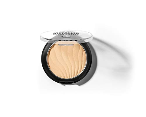 METALLIC HIGHLIGHTER-highlighting makeup powder, Gorgeous Luster Super Silky Texture, Long Lasting Waterproof Highlighter Powder (ROSE GOLD)