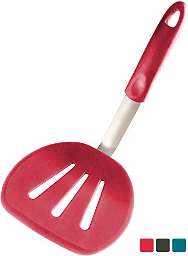 StarPack Premium Flexible Wide Silicone Turner Spatula - High Heat Resistant to 600