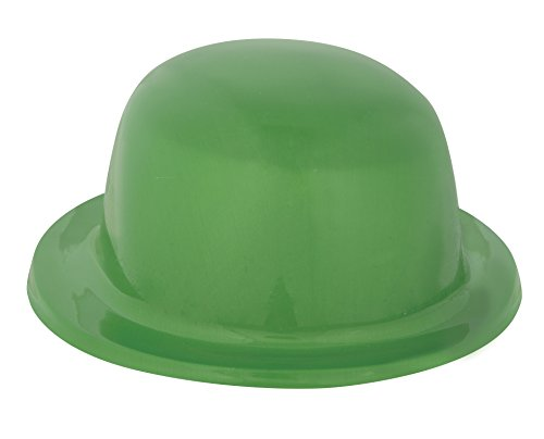 Plastic Green Derby Hat