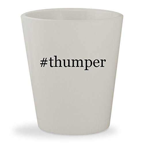 #thumper - White Hashtag Ceramic 1.5oz Shot (Bass Pro Pot)