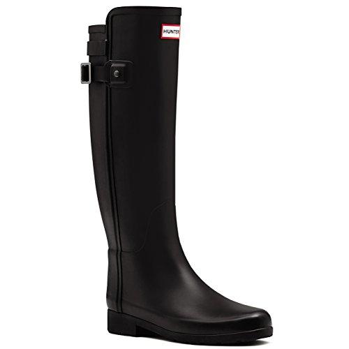 Hunter Women's Original Refined Back Strap Rain Boots Black 9 M US by Hunter