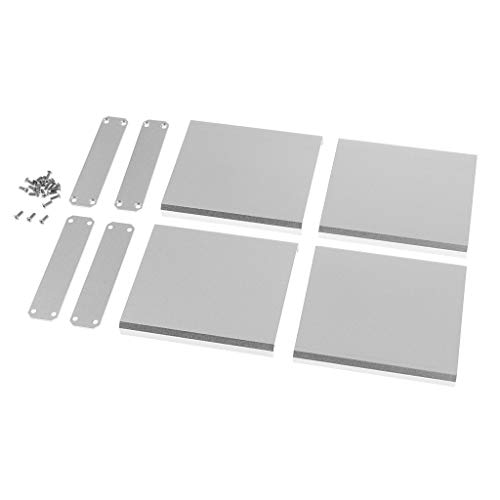 Prettyia Extruded Aluminum Flat Enclosure Kits for Project AMP Controller 75x67x16mm Silver (Pack of 2)