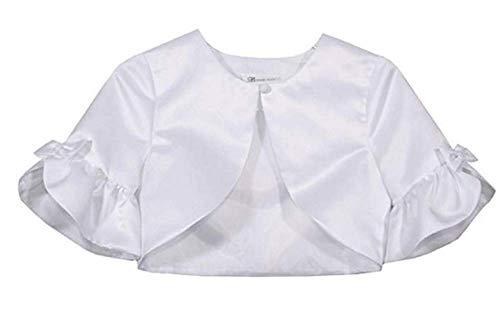 (Bonnie Jean Girls White Dress Jacket Communion Flower Girl (LG 12-14))