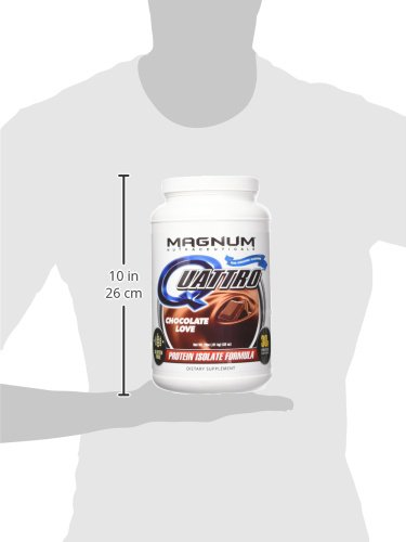 Amazon.com: Magnum Nutraceuticals Quattro Protein Powder - 2lbs - Chocolate Love - Pharmaceutical Grade Protein Isolate - Lactose Free - Gluten Free ...