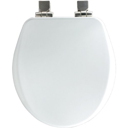Church 8170NISL 000 Molded Round Toilet Seat with Cover, Whi