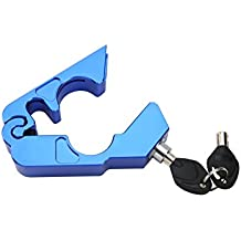 The Best-Rated Heavy Duty Anti-theft Secure Motorcycle Security Grip Lock (Blue)