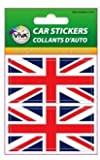 2 UNITED KINGDOM UK GREAT BRITAIN COUNTRY FLAG SMALL BUMPER STICKERS DECALS 3.5 CM X 7 CM .. NEW IN PACKAGE