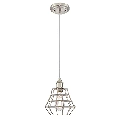Westinghouse 6336600 Nathaniel Three-Light Indoor Wall Fixture, Oil Rubbed Bronze Finish with Matte Black Angled Bell Cage Shades