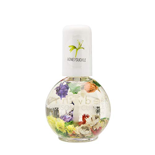 Blossom Scented Cuticle Oil (0.42 oz) infused with REAL flowers - made in USA (Honeysuckle)