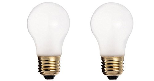 Satco S3871 130-Volt 60-Watt A15 Medium Base Light Bulb, Frosted (2-Pack) 60w A15 Medium Bulb
