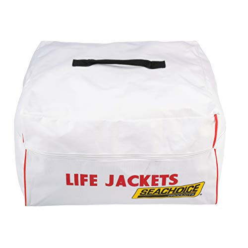 SEACHOICE 44990 Heavy-Duty 6-Capacity Life Jacket Nylon Storage Bag with Carrying Handles