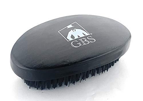 (GBS Finest Men's Range Military Style Brush 100% Natural Wooden Dual Men Hair Bristle Brush For Beard and Hair. 3