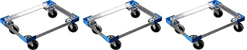 Carlisle Cateraide PC300N End-Loading Food Pan Carrier Dolly, Aluminum (3-(Pack))