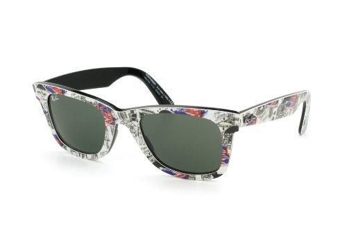 e47583ee85e Ray-Ban Original Wayfarer Sunglasses Rb2140 1115 Top Texture On London  Green  Amazon.co.uk  Clothing