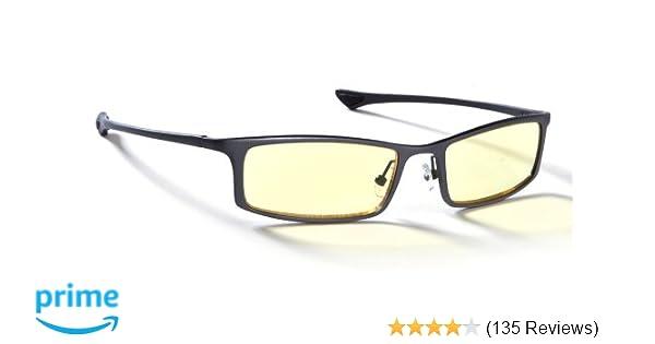 5c187a8b921e Amazon.com: GUNNAR Gaming and Computer Eyewear/Phenom, Amber Tint - Patented  Lens, Reduce Digital Eye Strain, Block 65% of Harmful Blue Light:  Electronics