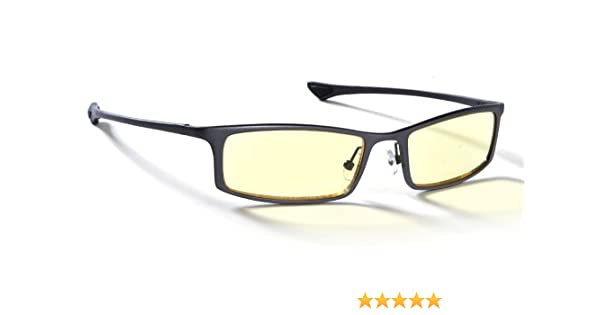 6a482ca198d76 GUNNAR Optiks ST002-C012Z Phenom Full Rim Ergonomic Computer Glasses with  Amber Lens Tint