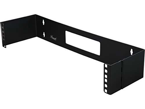 Rosewill 2U 19 Inch Steel Wall Mount Hinged Server Bracket with 6 Inches Deep and Hinge Design for Easy Asscess for Network Switches and Routers (RSA-2UBRA001) ()