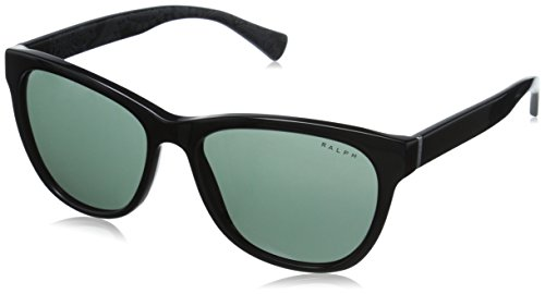 Ralph by Ralph Lauren Women's 0RA5196 Rectangular Sunglasses, Black,Black,Bandana Green & Solid Black Bandana, 54 - Lauren Ralph Sunglasses