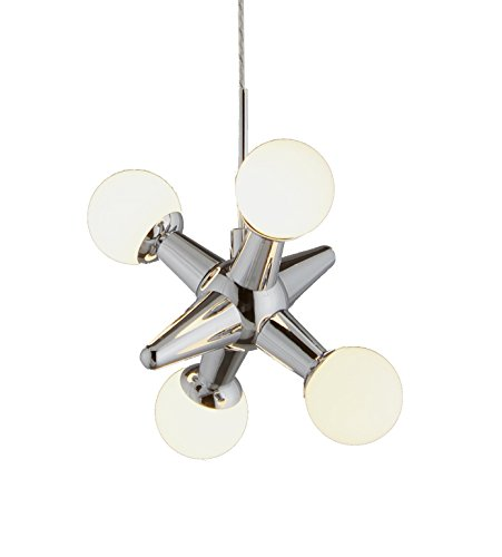 Single LED Jax's Pendant with 4 LED Lights Covered by White Opal Glass