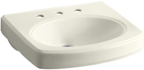 KOHLER K-2028-8-96 Pinoir Bathroom Sink Basin with 8 Centers, Biscuit