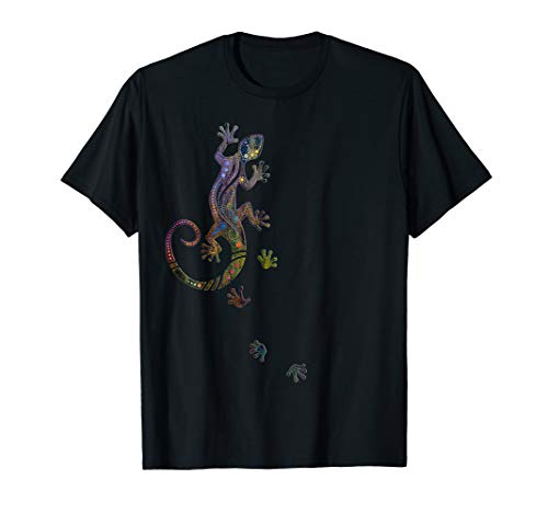 Dot Painting - Ethnological Running Gecko T-Shirt