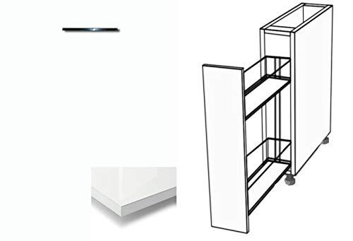 Premium-Ambiente ATUVWRH16 Unterschrank Apothekerschrank Vollauszug Softclosing Hochglanz (Breite 40cm, 86 Bianco)