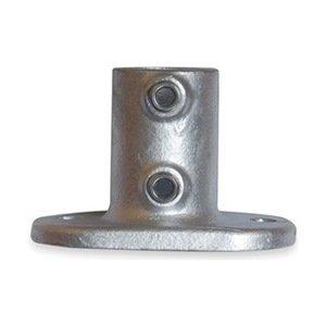 Industrial Grade 4NXU4 Railing Base Flange, Pipe Size 1 1/4 In -