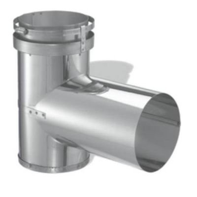 Single Wall Construction Stainless Steel Tee - 6""