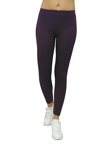 Donna Dunkellila Pantaloni Leggings Sys Tinta Unita YCaa6w