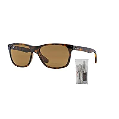 Ray-Ban RB4181 710/83 57M Light Havana/Brown Polarized Sunglasses For Men For Women: Shoes
