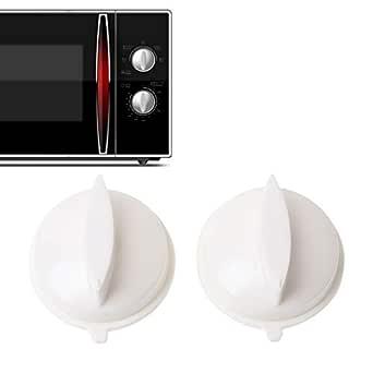 cuigu 2 pieza universal de microondas de Knob, plástico de deriva de temporizador Knob Interruptor Controler, orificio de fijación: 6 x 4 mm, para ...