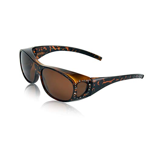(Wrap Around Sunglasses for Women Men Wrap-Around Old Sunglasses Over Tortoise)