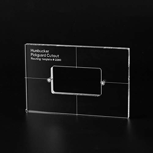 Musiclily Pro CNC Accurate Acrylic Humbucker Pickup Routing Template for Electric Guitar Pickguard