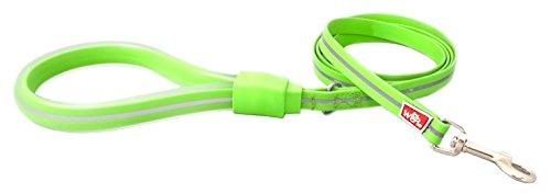 WIGZI 6GLSS58-GR Stink Proof, Waterproof, Reflective 6 Long Dog Leash, Universal Size, Neon Green