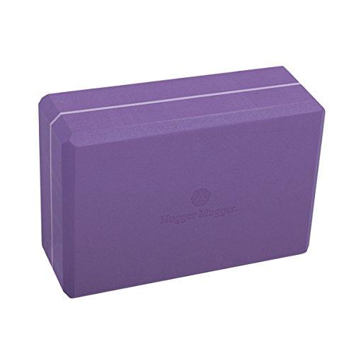 Hugger Mugger 3-Inch Foam Yoga Block (Purple) by Hugger Mugger