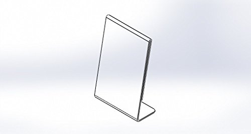 Clear-Ad - LHA-46 - Acrylic Slanted Sign Holder 4x6 - Plexiglass Table Menu Card Display Stand - Plastic Picture Frame Wholesale (Pack of 100) by Clear-Ad (Image #4)