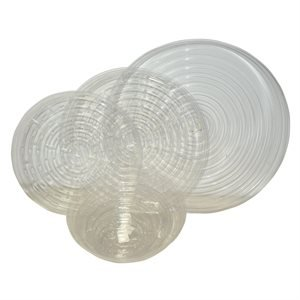 Clear Plastic Plant Saucers - 6 Inch, 25 Pack by CWP