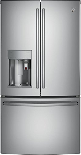 GE PFE28PSKSS Profile 27.8 Cu. Ft. Stainless Steel French Door Refrigerator - Energy Star (Steel Ge Profile Refrigerator Stainless)