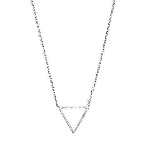 Triangle Necklace | SPUNKYsoul Collection (Small Silver)