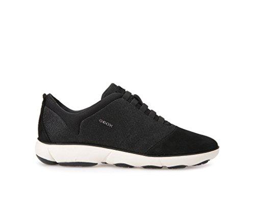 Sneaker Nebula Geox Women's Glitter 40 Suede New Black X8n0kwOP