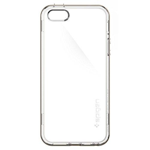 """Spigen Neo Hybrid """"Cristal Bumper cadre en TPU/PC Transparent slim Étui double couche pour Apple iPhone 5/5S/5C/SE–Champagne Or"""