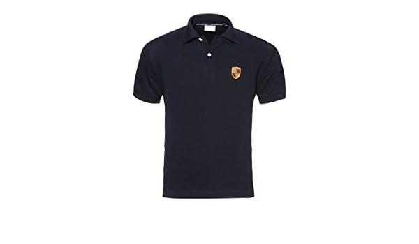 Porsche Auténtica Escudo Camisa de Polo para Hombre – Negro ...