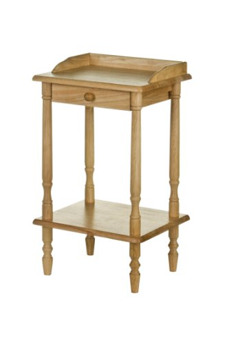 Premier Housewares Rubberwood Rectangle Telephone Table with Drawer - 62 x 36 x 29 cm by Premier Housewares