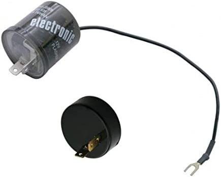 United Pacific 12 Volt 2 Prong LED Flasher w//Polarity Reversing Adapter