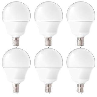 Sunco Lighting 6 Pack G14 LED Globe, 5W=40W, Candelabra Bulb, 450 LM, 5000K Daylight, Small Edison Screw Base E12, Frosted - UL